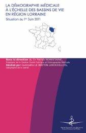 Atlas 2011 de la région Lorraine - Conseil National de l'Ordre des ...