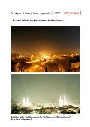 Lichtverschmutzung - schwyz+quer