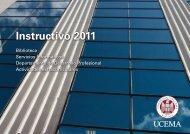 Instructivo 2011 - Universidad del CEMA