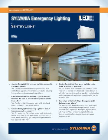 SYLVANIA Emergency Lighting - Osram Sylvania
