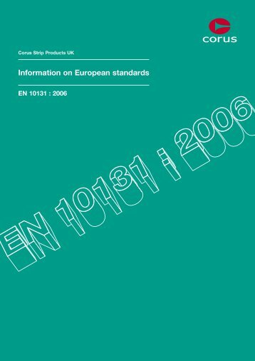 Information on European standards - Tata Steel