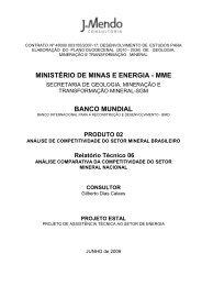 Análise Comparativa da Competitividade do Setor Mineral Nacional