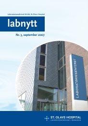 Nr. 3, september 2007 - St. Olavs Hospital