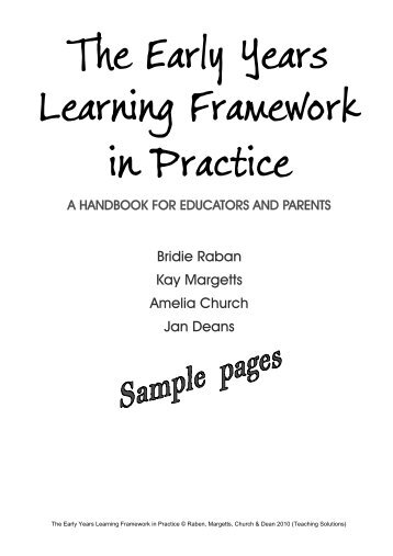 The Early Years Learning Framework in Practice - Mona Vale ...