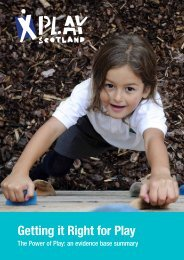 Getting it Right for Play - Play Scotland
