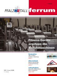 ferrum Ausgabe 6-2008 (539.8 kB) - PfalzMetall