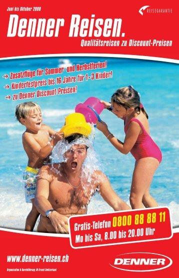 Kinderfestpreis - bei Denner Reisen