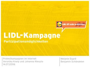 Kampagnenanalyse Lidl (Partizipation)