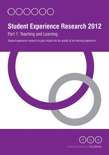 Student Experience Research 2012. Part 1: Teaching and Learning