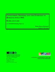 Citizenship, Gender, and the Everday in Romania since 1945: Work ...