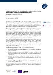 Dokumentation der Fachtagung - kos - Koordinierungsstelle Qualität ...