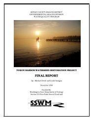 Yukon Harbor Watershed Restoration Project, 2006 - Kitsap Public ...