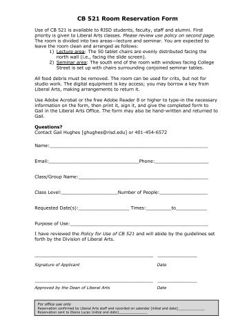 Reservation Request Form - Cruise & Tour