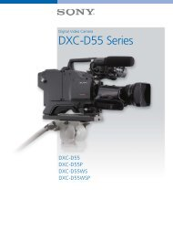 Digital Video Camera DXC-D55 Series