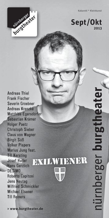 Sept / Okt 2013 - Nürnberger Burgtheater
