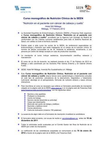 Curso monográfico de Nutrición Clínica de la SEEN - Sociedad ...