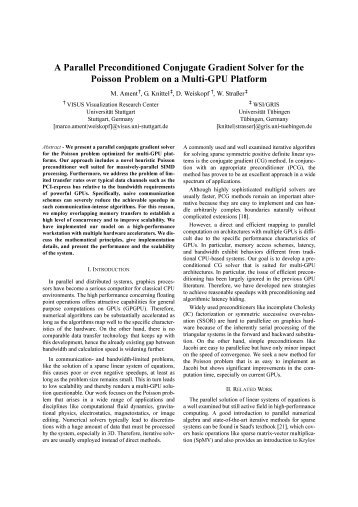 A Parallel Preconditioned Conjugate Gradient Solver for the Poisson ...