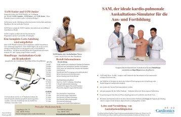 SAM, der ideale kardio-pulmonale Auskultations ... - Cardionics