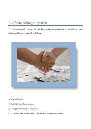 Lønforhandlinger i praksis - Dansk Kommunikationsforening