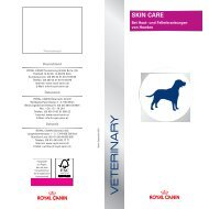 SKIN CARE - ROYAL CANIN Tiernahrung GmbH & Co. KG