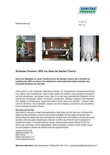 iSPA von Gessi - Sanitas Troesch AG