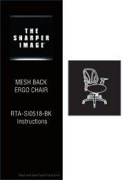MESH BACK ERGO CHAIR RTA-SI0518-BK ... - RTA Products