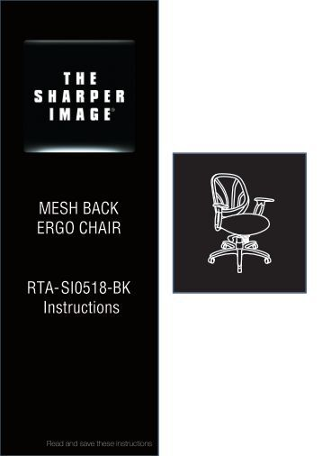MESH BACK ERGO CHAIR RTA-SI0518-BK ... - RTA Products