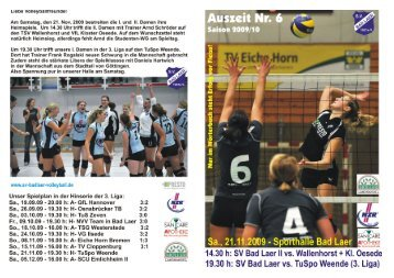 Auszeit Nr 6 - SV Bad Laer Volleyball