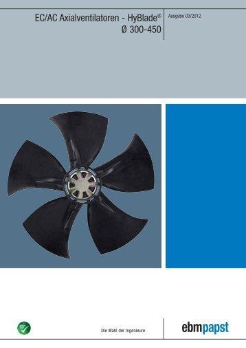 EC/AC Axialventilatoren - HyBlade® Ø 300-450 - ebm-papst