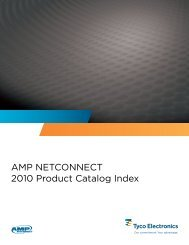 AMP NETCONNECT 2010 Product Catalog Index