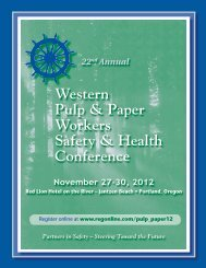Western Pulp & Paper Workers Safety & Health ... - Oregon OSHA