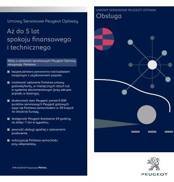 Obsługa Aż do 5 lat spokoju finansowego i technicznego - Peugeot