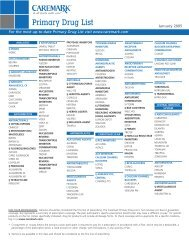 Primary Drug List - Caremark