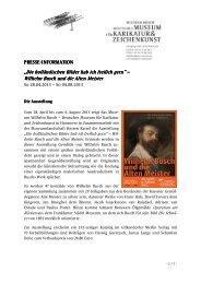 Dt. Museum fuer Karikatur & Zeichenkunst.pdf - Wilhelm Busch.de
