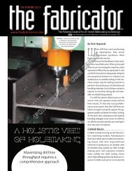 October 2011 issue of The Fabricator - Peddinghaus
