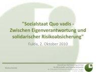 Ethische Grundlagen des Sozialstaates - Philosophisch ...