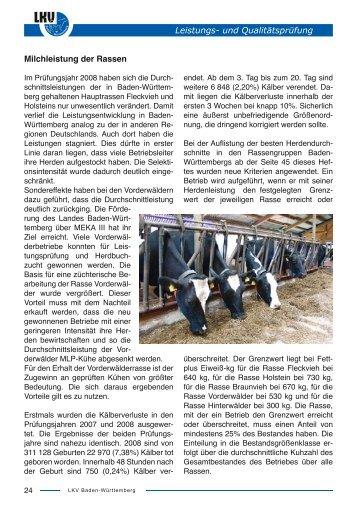 Heft 2008 - Ergebnisse der MLP - Landesverband Baden ...