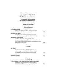 Download des gesamten Heftes mit kompletten ... - Zeitschrift Arbeit