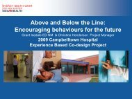 Above and below the line: encouraging behaviours for the ... - ARCHI