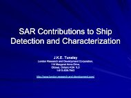 SAR Contributions to Ship Detection and Characterization - London ...