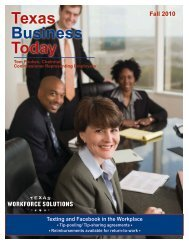Newsletter: Texas Business Today, Fall 2010 - Texas Workforce ...