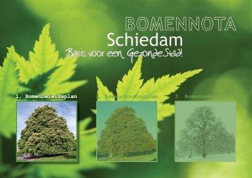 Bomenbeleidsplan Schiedam - Leiedal