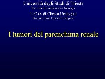 Tumore del Rene - Università degli Studi di Trieste