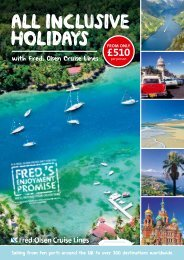 ALL INCLUSIVE HOLIDAYS FROM ONLY - Fred. Olsen Cruise Lines