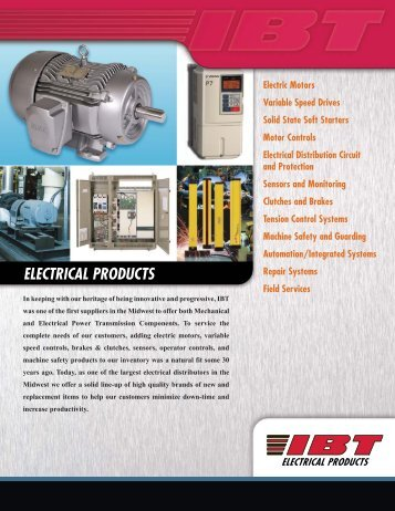 Electrical Products Line Card - IBT, Inc.