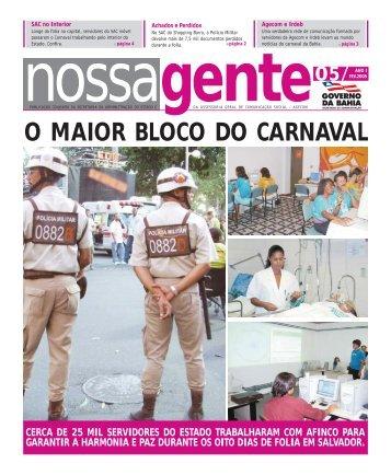 Fevereiro - Governo da Bahia