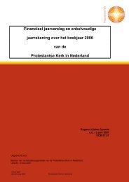 Financieel jaarverslag en enkelvoudige jaarrekening ... - Kerk in Actie