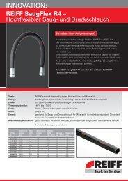 INNoVATIoN: REIFF SaugFlex R4 – - REIFF Technische Produkte