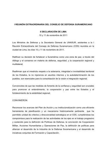 II Declaración de Lima