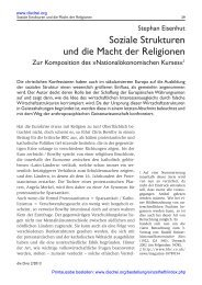 Soziale Strukturen und die Macht der Religionen - Die Drei